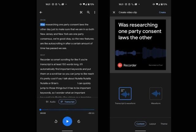Google Pixel 4a 5G Recorder v2 app