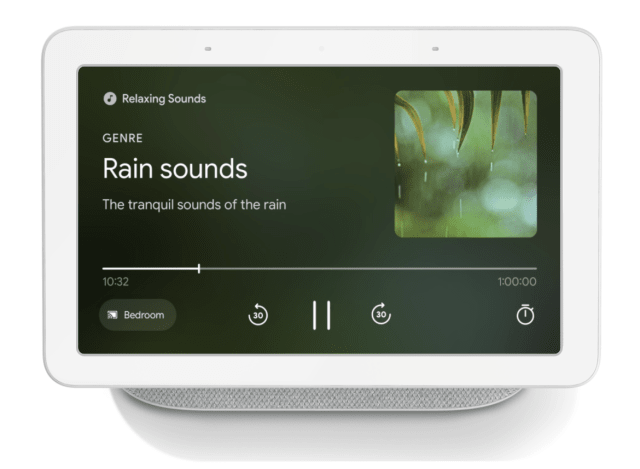 Google Smart Display relaxing sounds