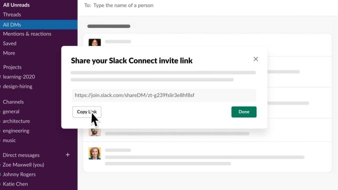Slack Connect DM