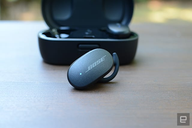 Bose doesn't have the true wireless experience of some other headphone companies, but you would never know it. The QC Earbuds are a huge leap over the SoundSport Free model from 2017. The company provides the best ANC performance you'll find in true wireless buds on top of great sound quality. There are some missing features, but the basics are covered, and there's wireless charging as well.