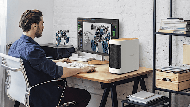 Image of Acer's ConceptD Model 300 mid-tower for creative tasks.