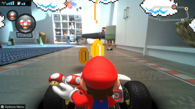 Circuit maison en direct de Mario Kart