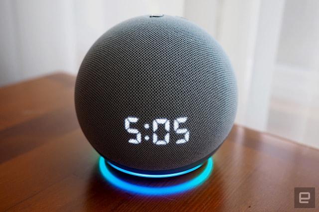 Amazon Echo Dot with Clock (2020)