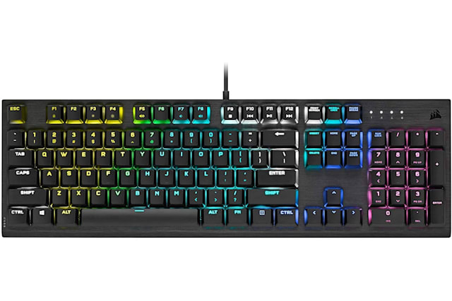 Corsair K60 RGB Pro is a low-profile mechanical gaming keyboard