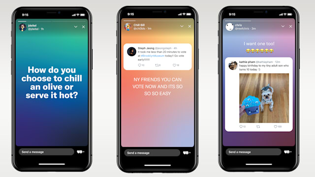 Twitter's fleets look a lot like Instagram Stories.
