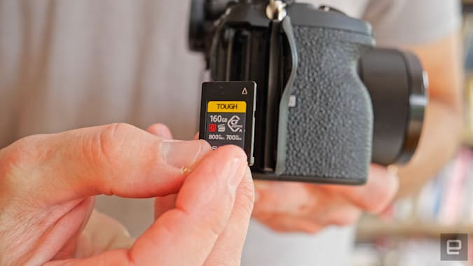 Sony CFexpress Type A card for the A7S III