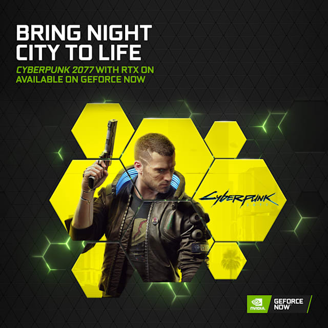 Cyberpunk 2077 on GeForce now via GoG, Epic Games and Steam
