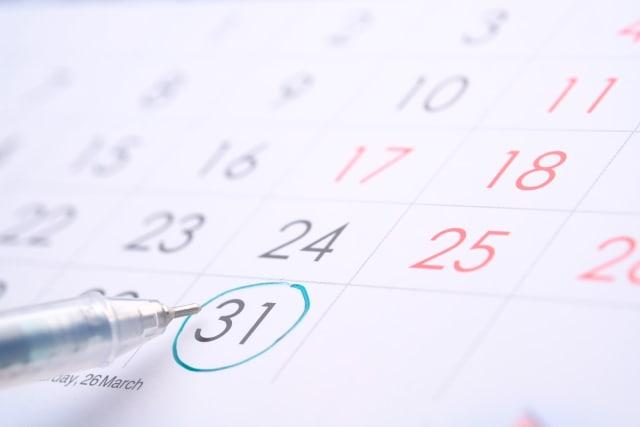 deadline circle around data on calendar