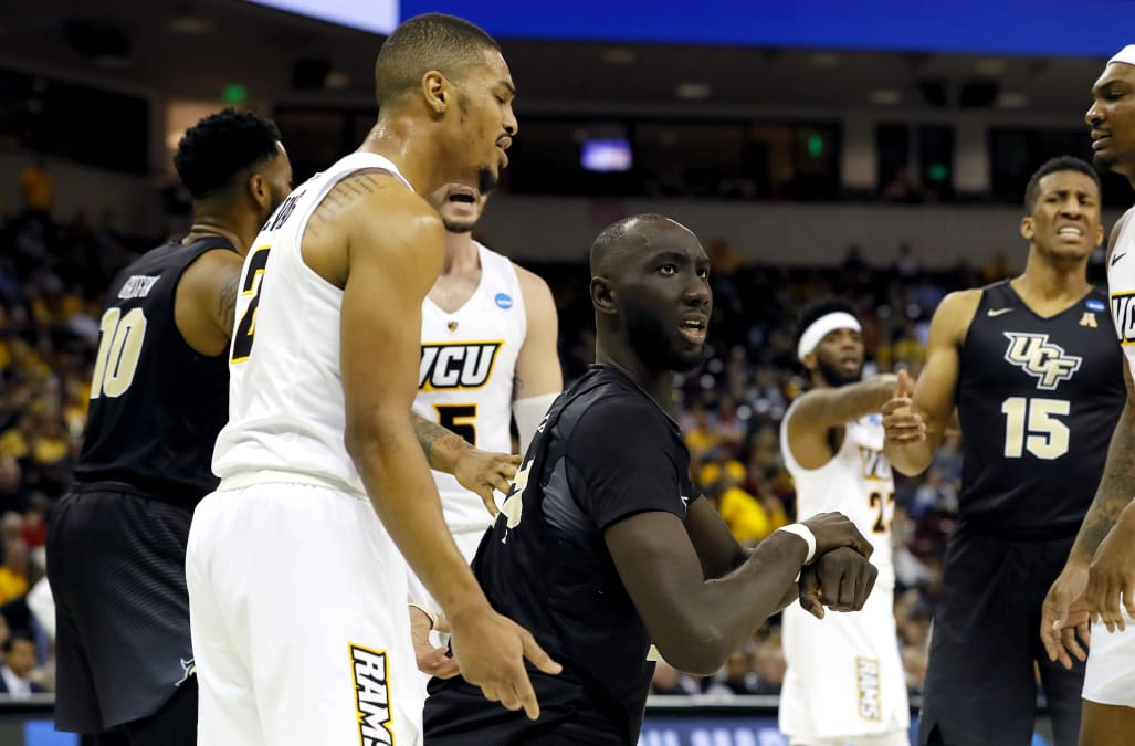 Tacko Fall still looks taller than VCU opponent even from