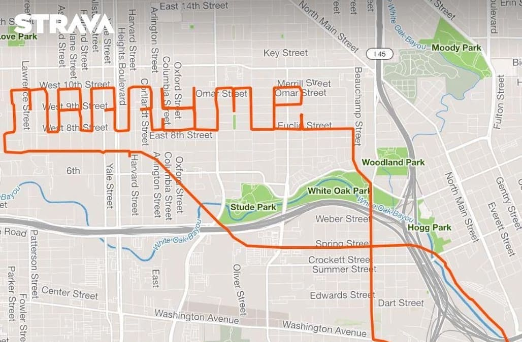 Texas man spells out 'marry me' during 15-mile bike ride
