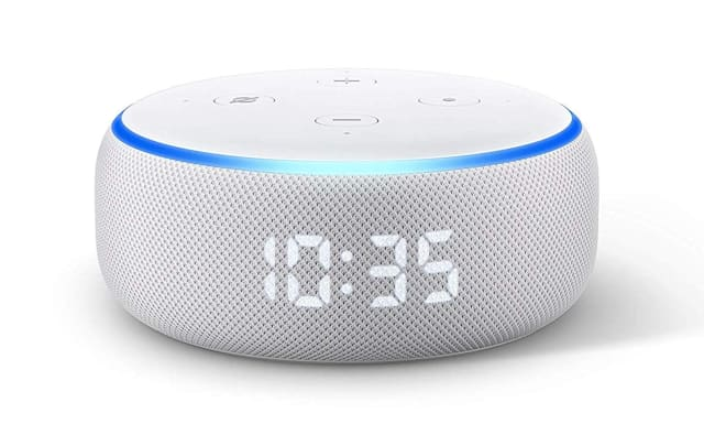 Amazon Echo Dot with Clock (2019)