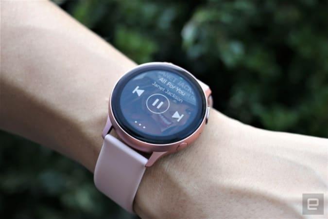 The Samsung Galaxy Watch Active 2 smartwatch.