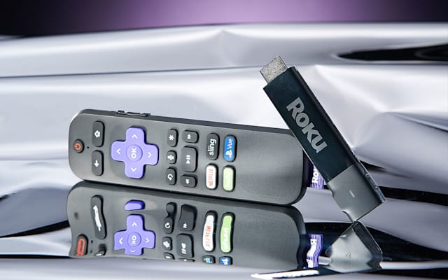 Roku Streaming Stick+ media streamer.