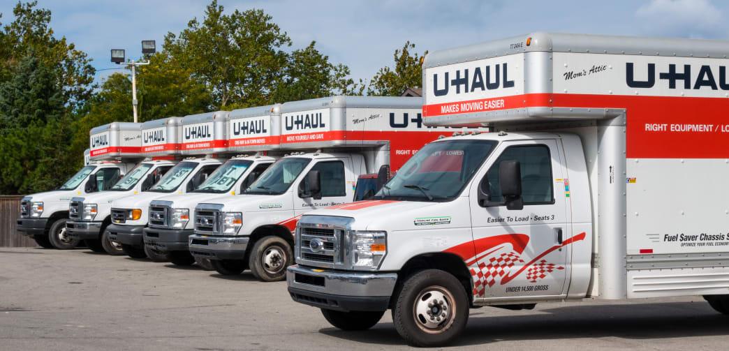 U-Haul vehicles