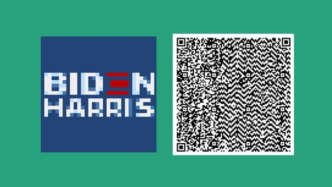 Biden-Harris 'Animal Crossing' campaign signs