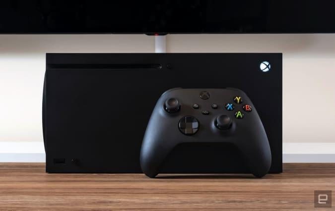 Microsoft's new Series X console and its accessories.