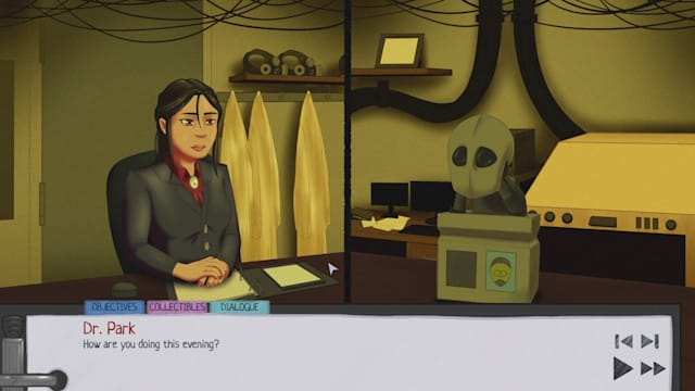 Screenshot from the visual novel 'Syntherapy'