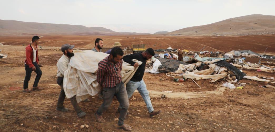 Bedouin villagers