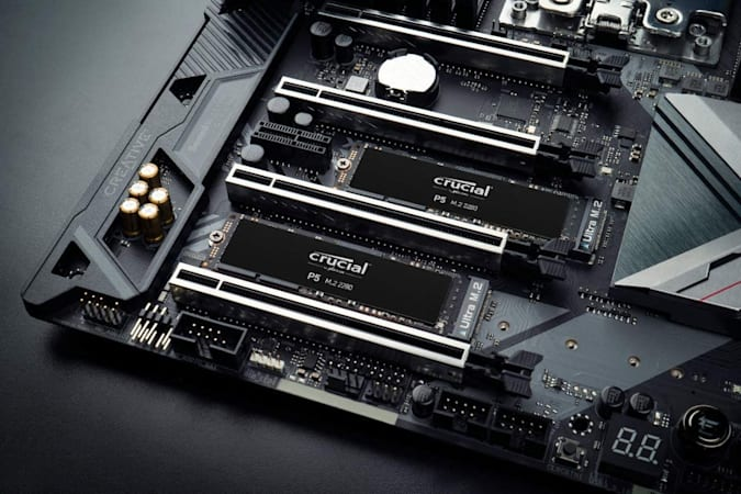 Crucial P5 1TB 3D NAND NVMe with built-in SSD