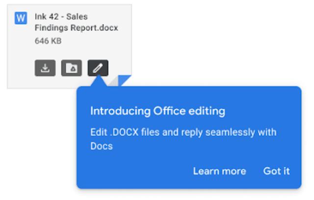 Gmail ویرایش اسناد را آسان می کند.