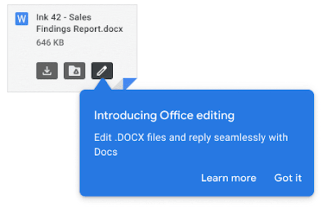 Gmail is making document editing easier.