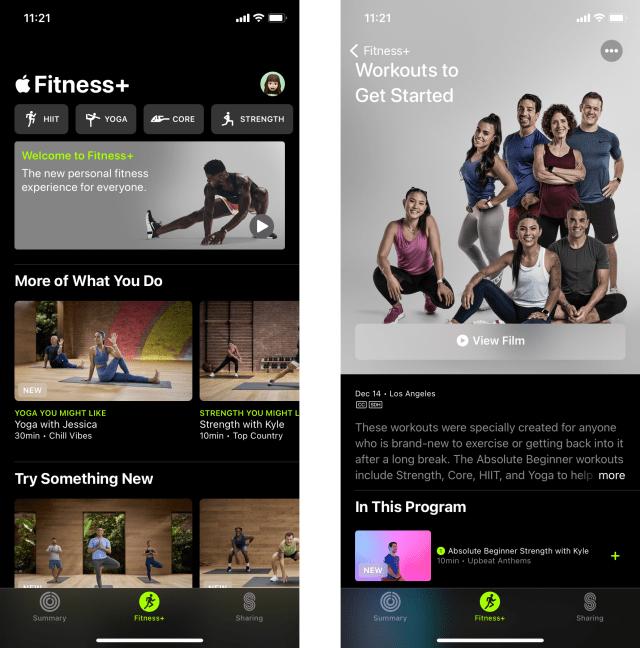 Apple Fitness Plus screenshots