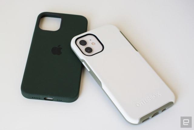 قاب محافظ Apple Silicone MagSafe iPhone 12 ، قاب Otterbox Symmetry + قاب آیفون 12 MagSafe