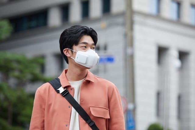 LG's PuriCare wearable air purifier.