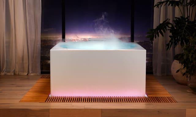 Kohler Stillness Bath looks like an indoor hot tub.