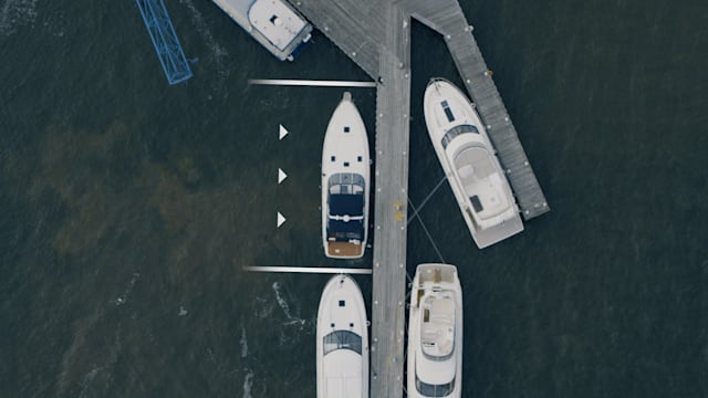 Volvo Penta Assisted Docking system for parking boats.