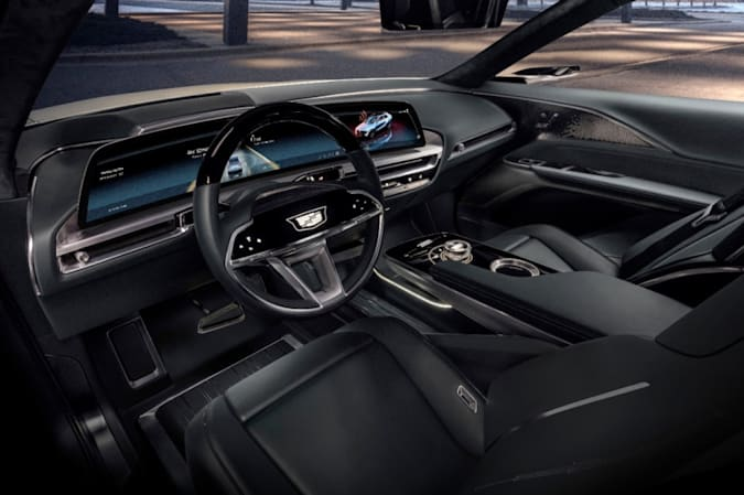 Cadillac LYRIQ's new electric vehicle architecture opens up possibilities in vehicle spaciousness and design. Images display show car, not for sale. Some features shown may not be available on actual production model.