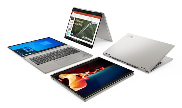 Lenovo ThinkPad X1 Titanium Yoga convertible laptop / tablet.