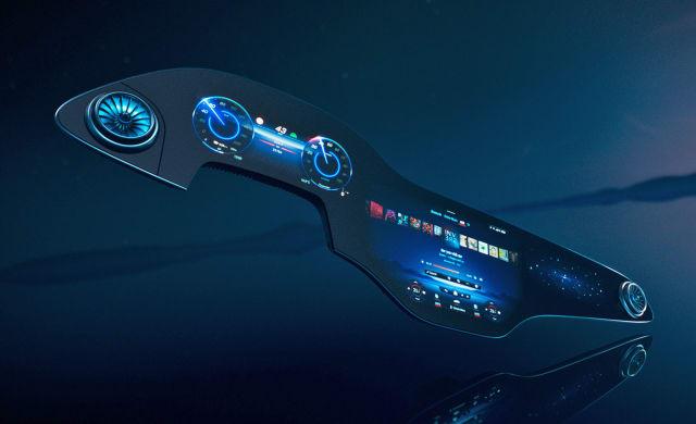 Mercedes-Benz 56-inch Hyperscreen dashboard.
