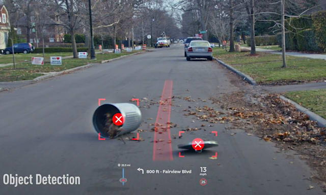 Panasonic AR HUD with moving object detection