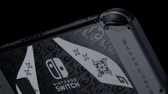 Nintendo Limited Edition 'Monster Hunter Rise' Switch Back