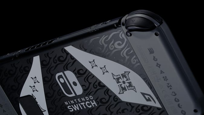 Nintendo 'Monster Hunter Rise' limited edition Switch back