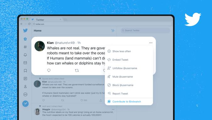 Twitter's new Birdwatch feature.