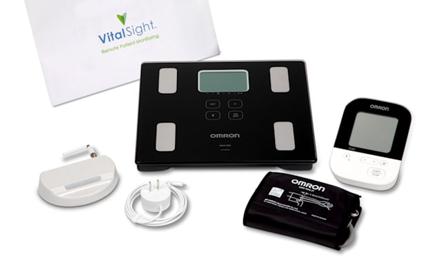 Omron VitalSight remote blood pressure monitoring device.