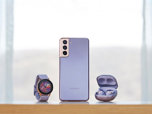 Samsung Galaxy S21 Plus, Galaxy Watch and Galaxy Buds Pro