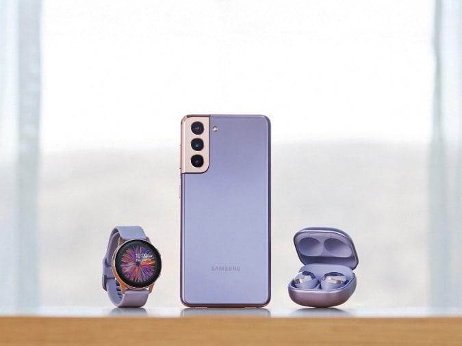 Samsung Galaxy S21 Plus, Galaxy Watch and Galaxy Buds Pro