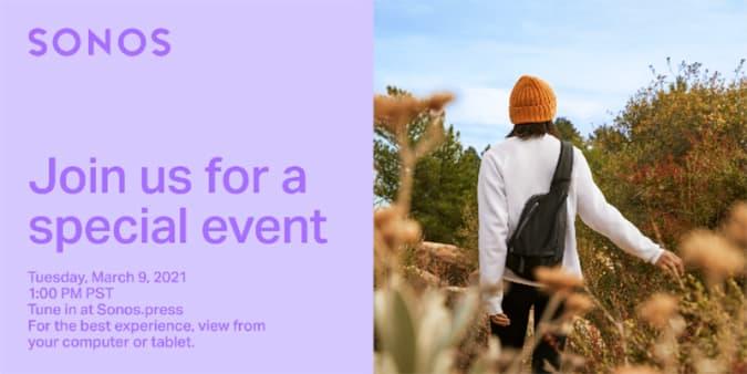 Sonos March 9 event invitation