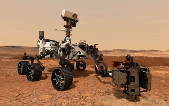 Mars Perseverance render