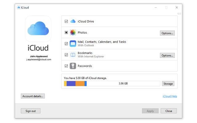iCloud passwords Chrome extension