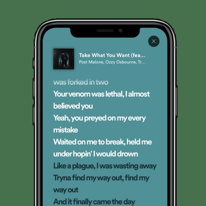 Spotify lyrics