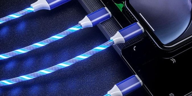 LED Light 3-in-1 Micro/Type-C/Lightning Charger Cable