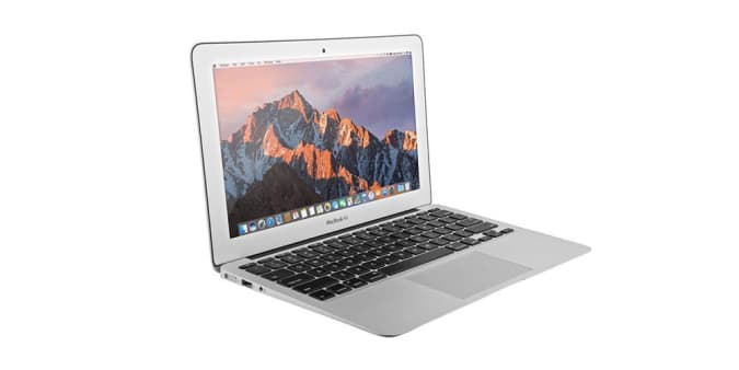 Press image of an Apple laptop.
