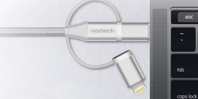 Naztech 6-Foot Hybrid 3-in-1 Charge & Sync Cable