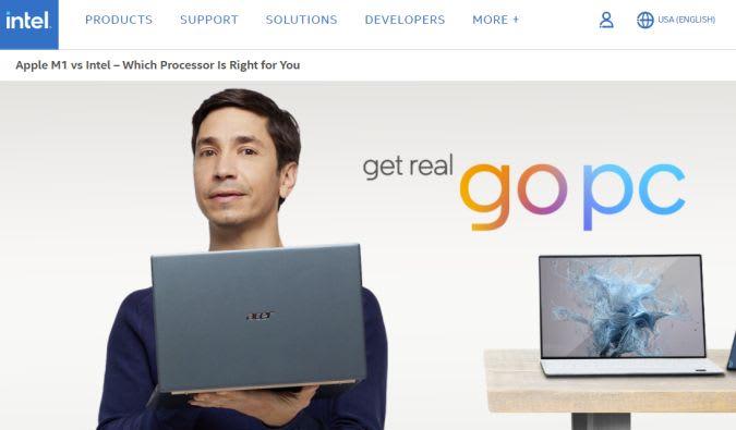 Intel 'Go PC' promo