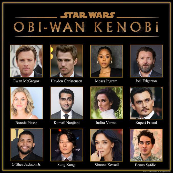 'Star Wars: Obi-Wan Kenobi' cast for Disney+