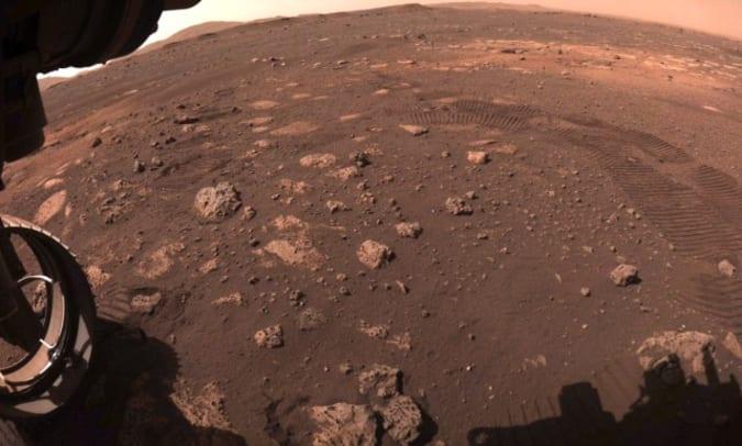 Huellas de neumáticos del rover Perseverance de la NASA